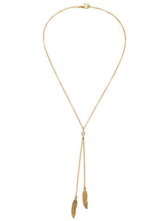best Gold Plated Leaf Bolo Necklace - GOLDEN
