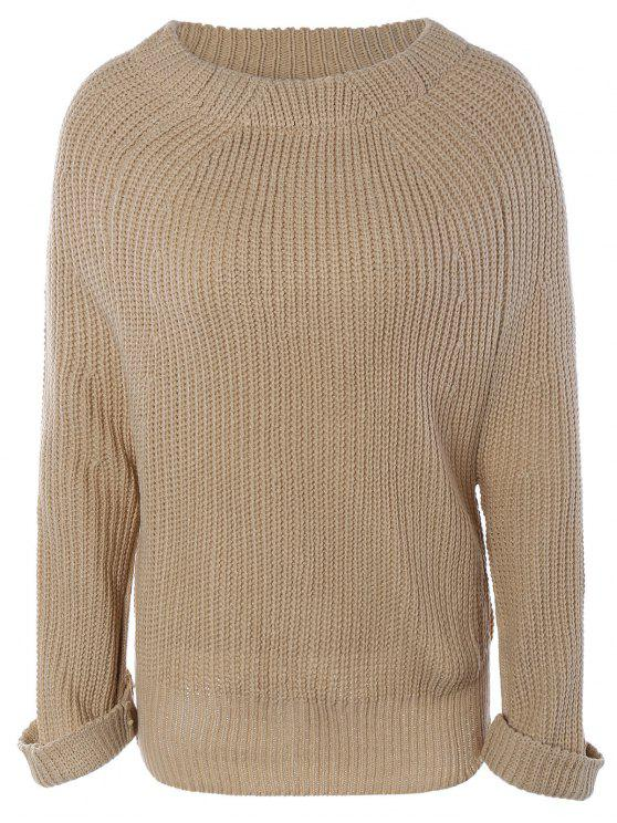 online Long Sleeve Oversize Jumper - APRICOT ONE SIZE
