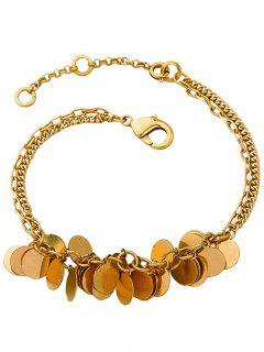 Multilayered Disc Charm Anklet - Copper Color