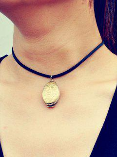 Grabado Collar Floral Locket - Dorado