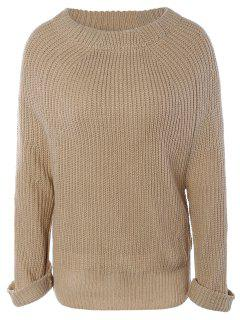 Long Sleeve Oversize Jumper - Apricot