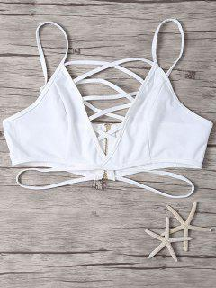 Cami Cut Out Solid Color Crop Top - Blanc S