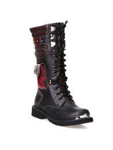 أنيق اللون كتلة و المعادن تصميم مكافحة الأحذية للرجال - أسود 41