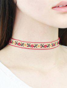 Floral Broderie Choker - Blanc