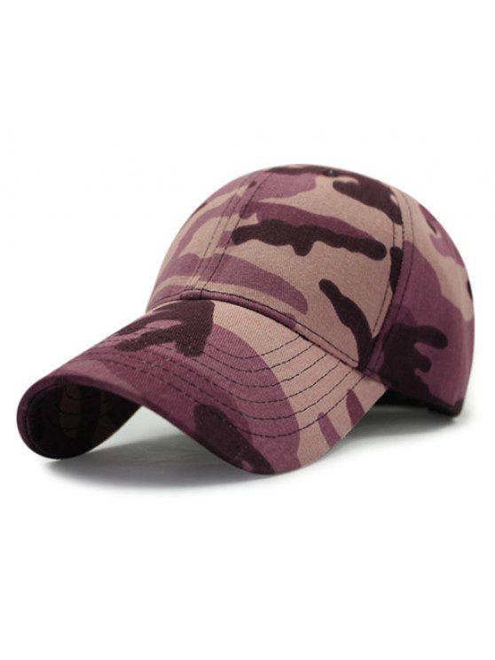 casquette de baseball à motif camouflage en plein air - Pourpre