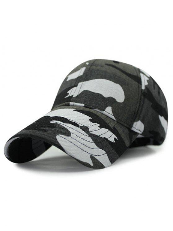 buy Outdoor Camouflage Pattern Sunscreen Baseball Hat - BLACKISH GREEN