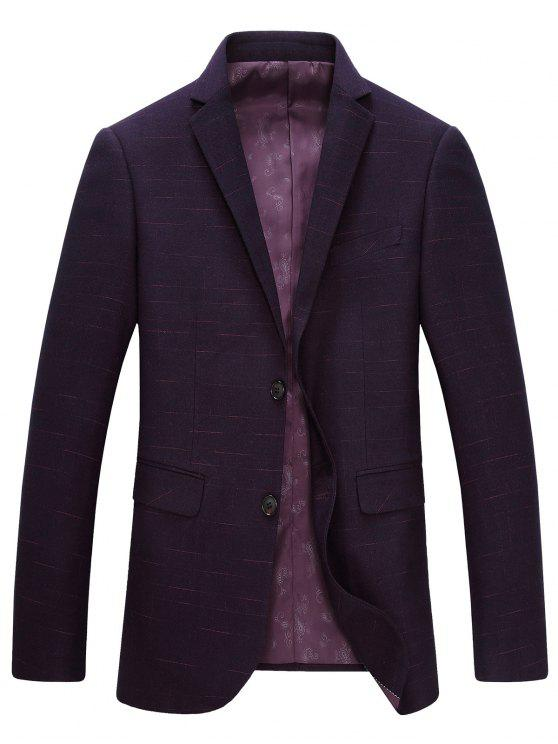 Lapel single-breasted manches longues Blazer - Violacé rouge M