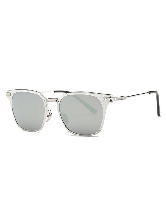 new Metallic Full-Rim Butterfly Sunglasses - SILVER