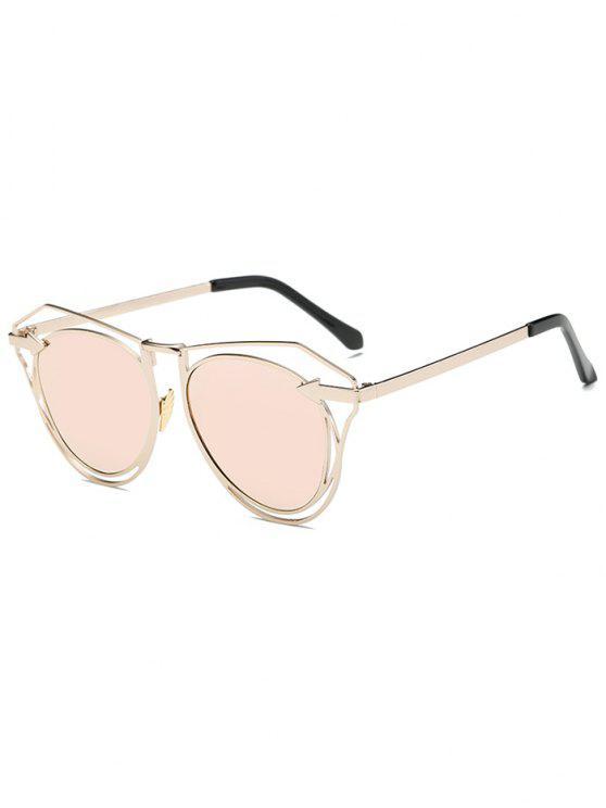 Arrow Gespiegelte Schmetterlings-Sonnenbrille - Pink