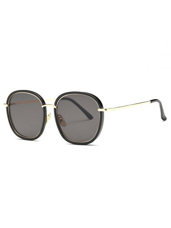 Quadro dobro óculos oversized - Preto