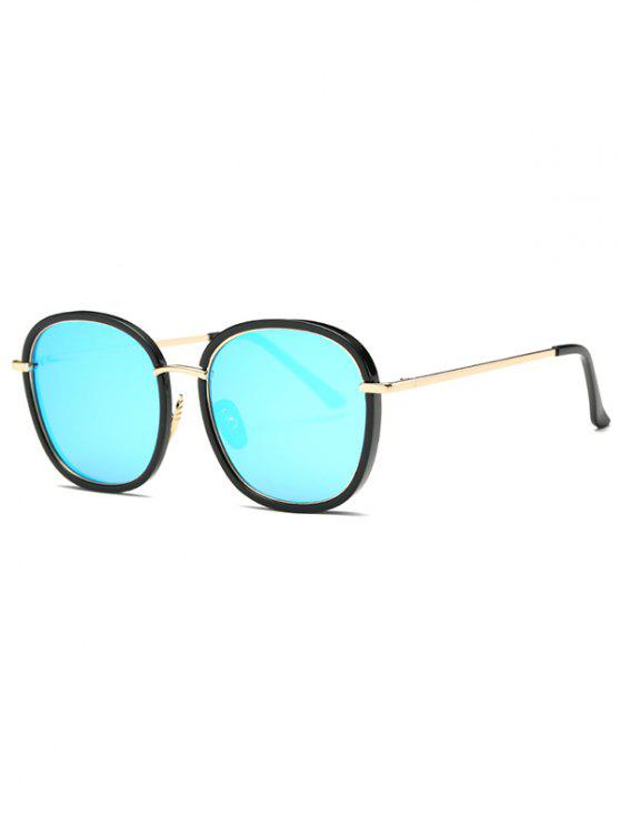 Doble Gran Tamaño Del Marco Gafas De Espejo Azul Claro: | ZAFUL