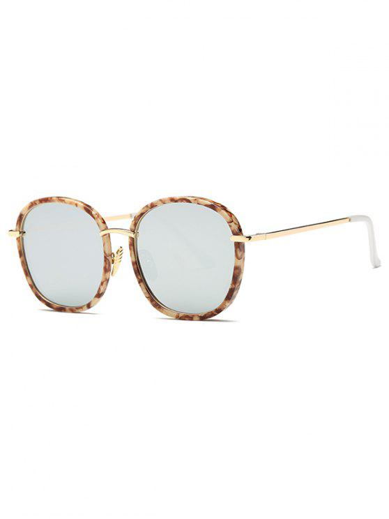 womens Marble Oversized Mirrored Sunglasses - LIGHT BROWN