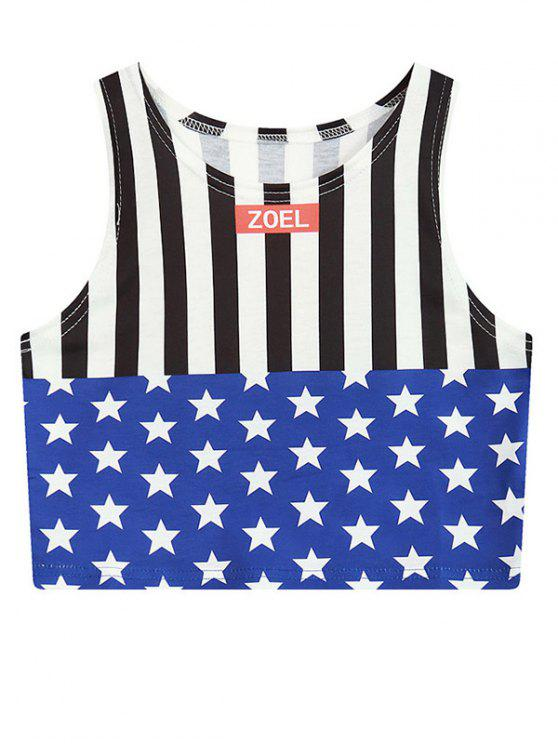 latest Star Stripe Crop Top - COLORMIX ONE SIZE