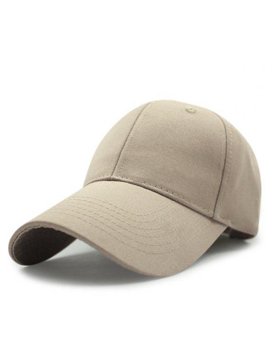 Al aire libre largo del borde de la hebilla ajustable del sombrero de béisbol - Caqui