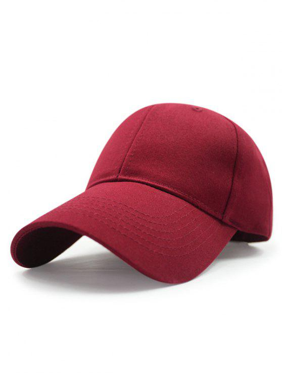 outfit Outdoor Long Brim Adjustable Buckle Baseball Hat - CLARET
