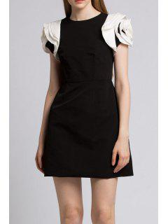 Stereo Floral A Line Dress - Black M
