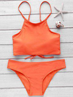 Orange Cami Bikini Set - Orange S