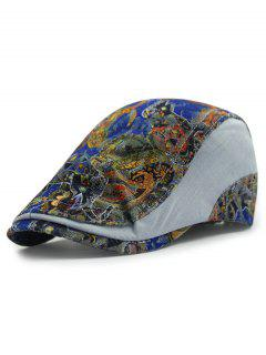 Outdoor Lace Match Casual Ivy Newsboy Cap - Blue Gray