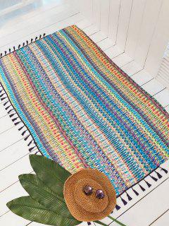 Printed Tassels Self-Tie Chiffon Cover-Up