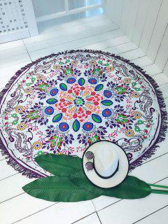 Round Blanket Thin Plage - Blanc