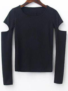 Split Sleeve Sweater - Black M