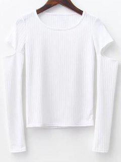 Pullover Mit Kerbe An Der Hülsen - Weiß S