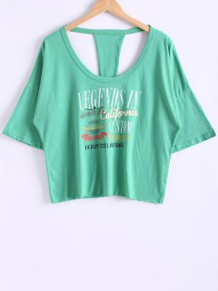 Cutout Back T-Shirt - Green