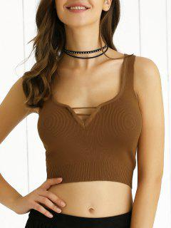V Neck Knit Cami - Earthy S