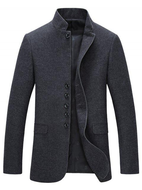 Pied de col single-breasted manches longues Blazer - Gris XL Mobile