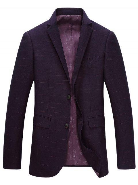 Lapel single-breasted manches longues Blazer - Violacé rouge M Mobile