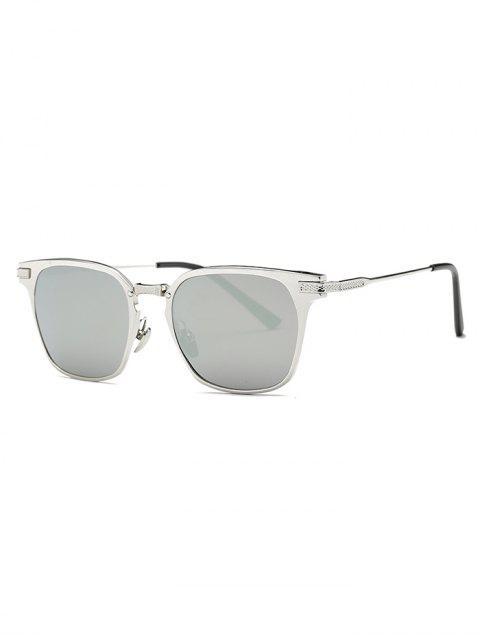 new Metallic Full-Rim Butterfly Sunglasses - SILVER  Mobile