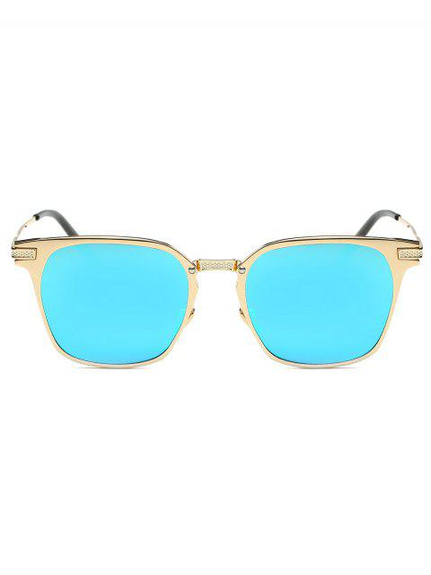 outfit Full-Rim Mirrored Butterfly Sunglasses - LIGHT BLUE  Mobile