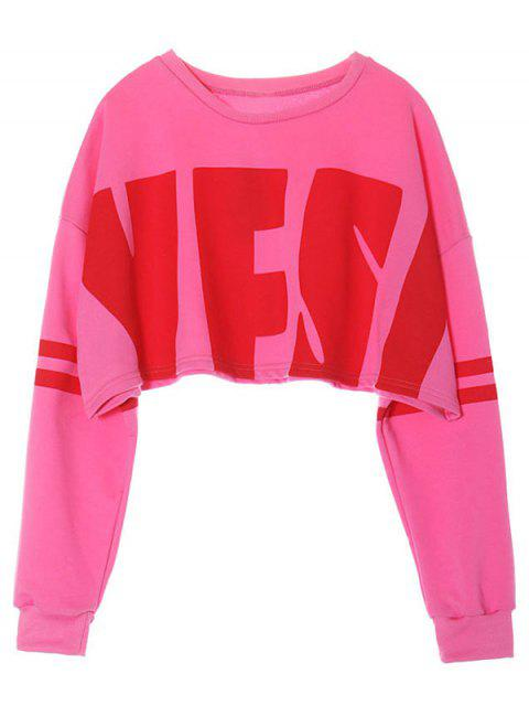fancy Cropped Sweatshirt - PINK ONE SIZE Mobile