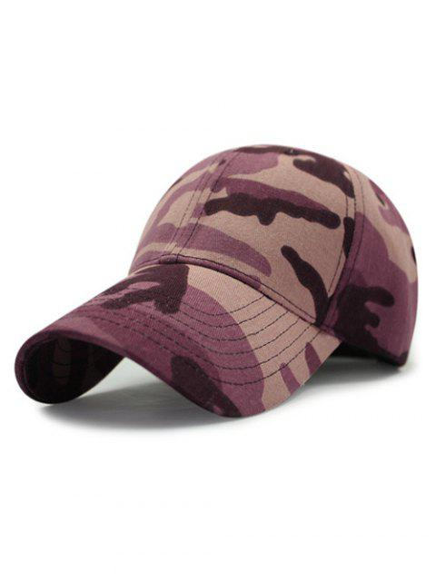 affordable Outdoor Camouflage Pattern Sunscreen Baseball Hat - PURPLE  Mobile