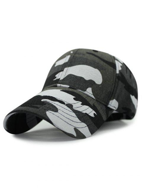 buy Outdoor Camouflage Pattern Sunscreen Baseball Hat - BLACKISH GREEN  Mobile