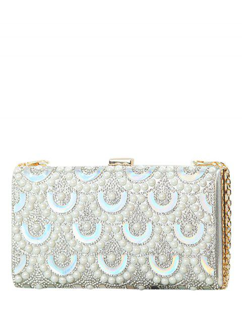 unique Rhinestone Sequins Evening Bag - SILVER  Mobile