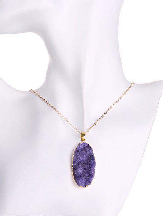 sale Natural Shape Amethyst Necklace - PURPLE