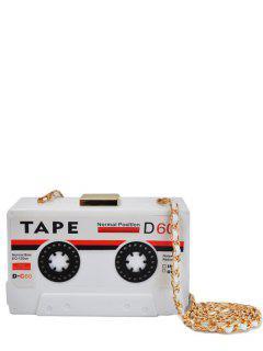 Chaînes De Cassette En Forme De Sac Soirée - Blanc