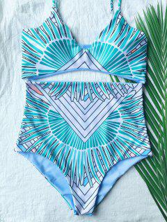 Print Cami High Waisted Bikini Set - Multi S