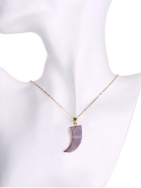 buy Natural Shape Agate Horn Necklace -   Mobile