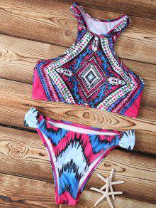 Buy Printed High-Neck Bikini Set - COLORMIX S