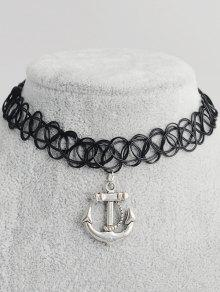 Girocollo tatuaggio Anchor Hollow Out