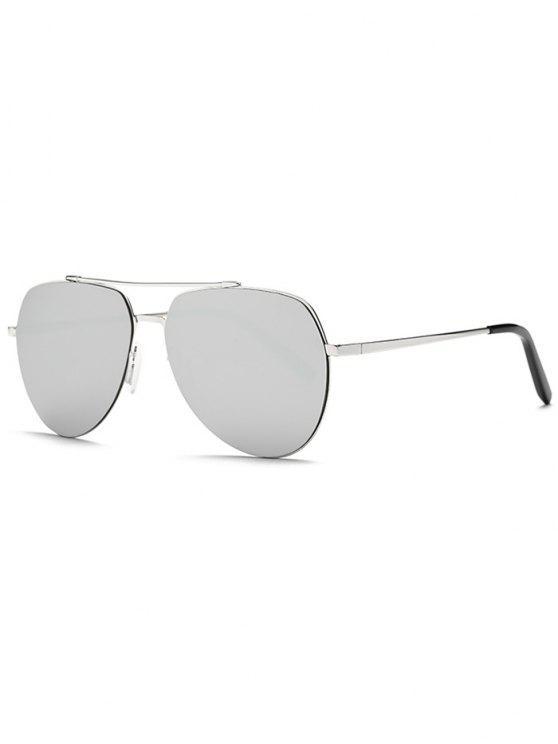Gafas de Sol de Piloto Especulares Ligeras - Plata
