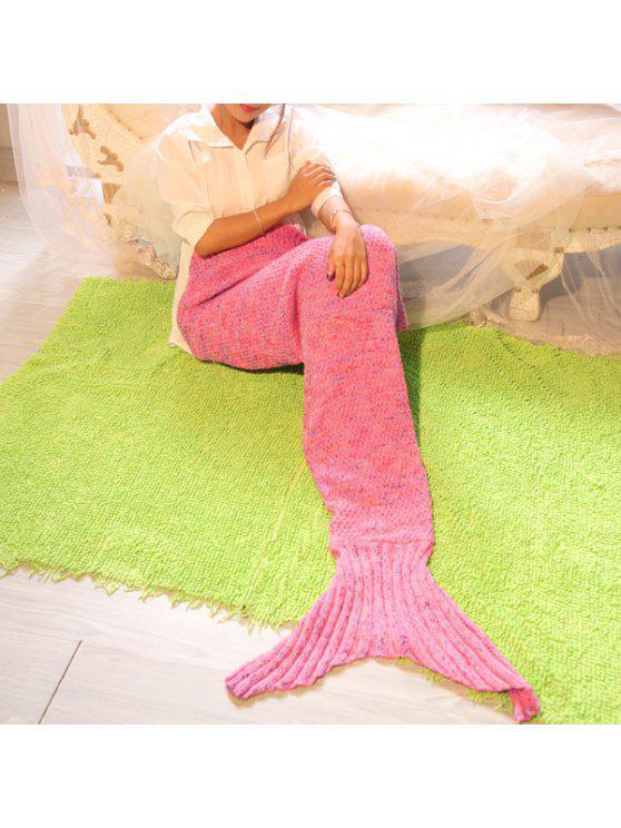 التصوير الدعامة أو أريكة محبوك حورية البحر بطانية - زهري