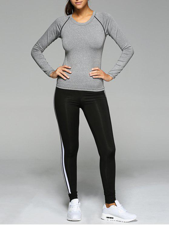 outfits Long Sleeve T-Shirt and Sport Pants - GRAY S