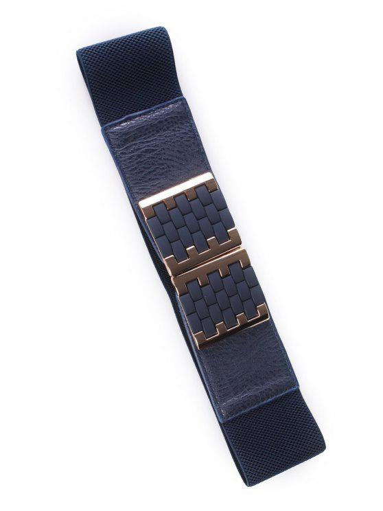 unique Brick Buckles Elastic Wide Belt - DEEP BLUE
