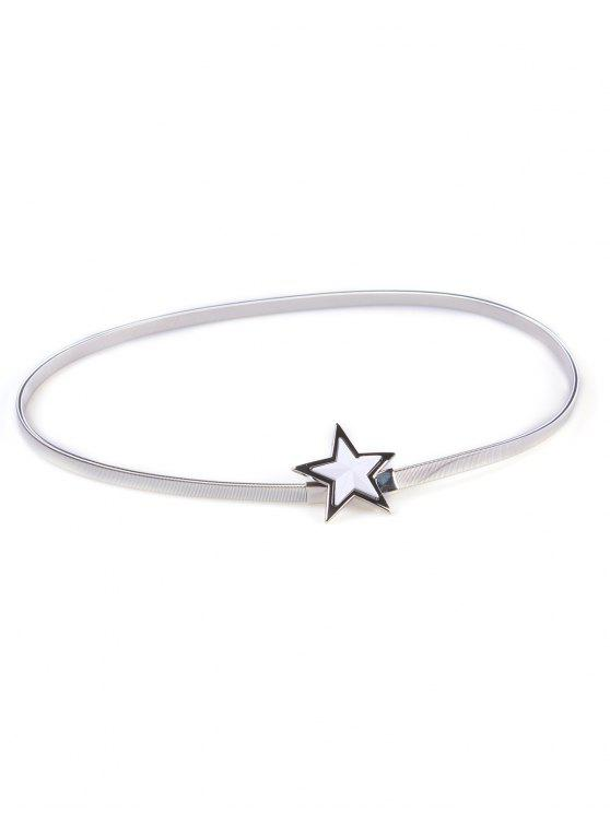 buy Star Metal Elastic Waist Belt - SILVER