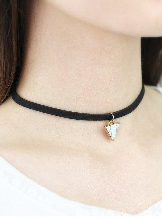best Faux Rammel Triangle Choker - WHITE