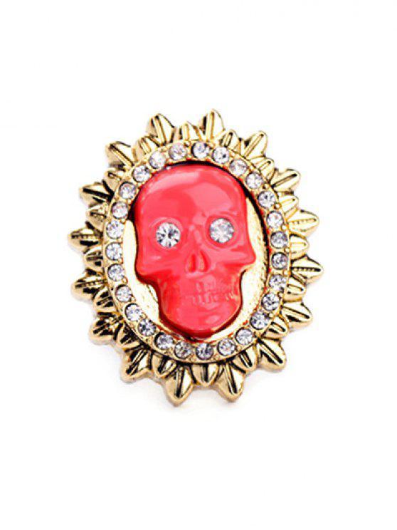 ladies Rhinestone Sun Skull Ring - LAKE