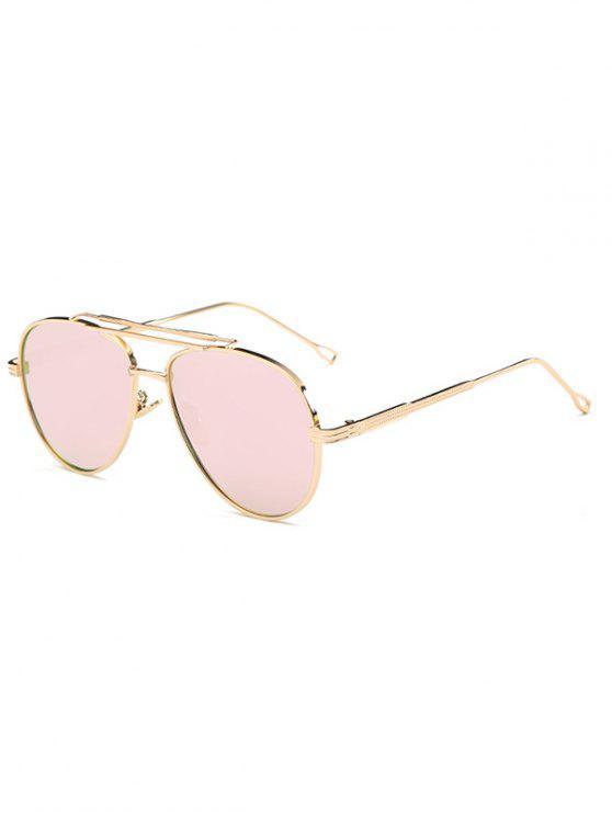 Ombre Lens Crossbar espelhadas piloto Sunglasses - Rosa